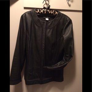 Bianca Nygard Leather Jacket size 16 EUC